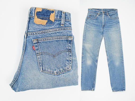 Size 29 Levi's 505 Jeans - Vintage Levi's 505 Jeans 29W 30L - Straight Leg - Distressed - Vintage 80s Levis 505 Jeans 29 Inch Waist - Faded