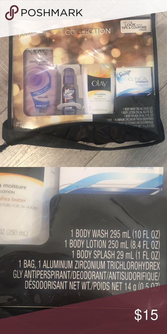 Beauty Collection of Olay products! Winter beauty collection with body wash, body lotion, body splash, and deodorant.  Brand new! Olay Other