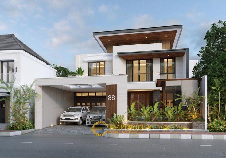 Mr Kevin Modern House 2 Floors Design Kudus Jawa Tengah In 2021 2 Storey House Design Modern Exterior House Designs House