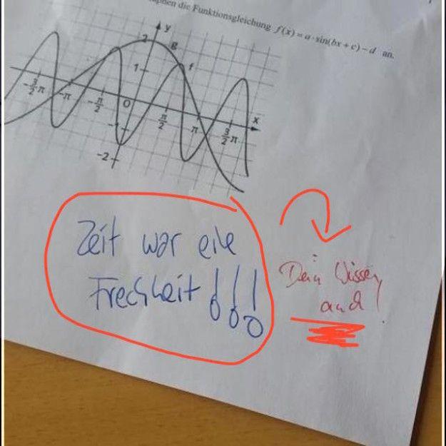 Und natürlich der Schüler, der es seinem Lehrer so richtig geben wollte. | 27 Schüler, die bei dieser Klassenarbeit nicht ihren besten Tag hatten