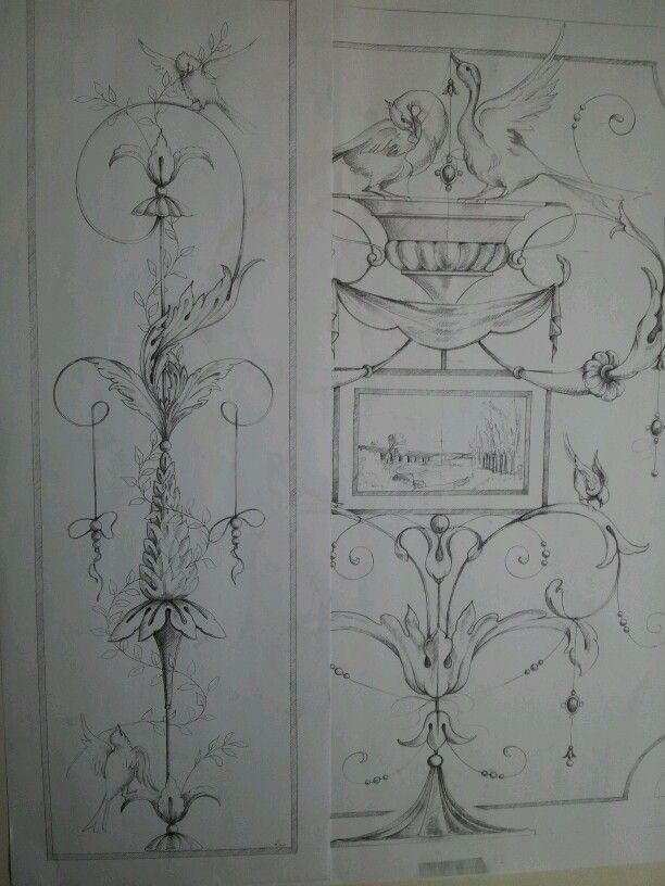 Arianna Fabbretti disegni per grottesche