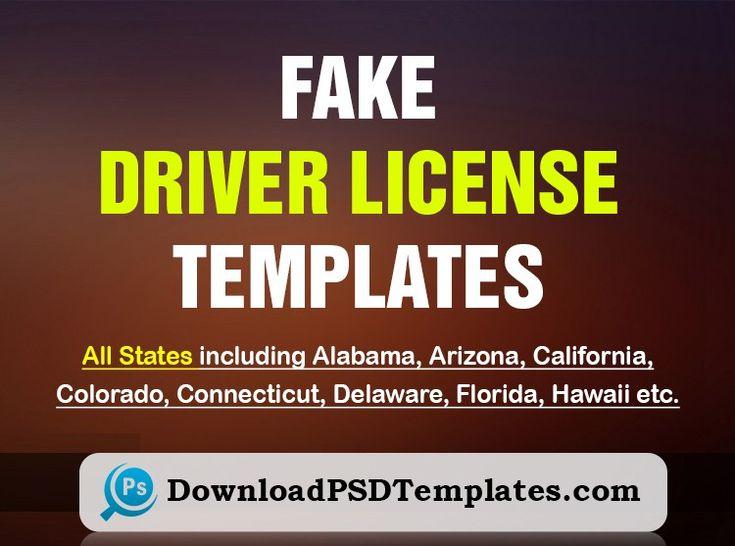 Fake driver license template fake id template generator