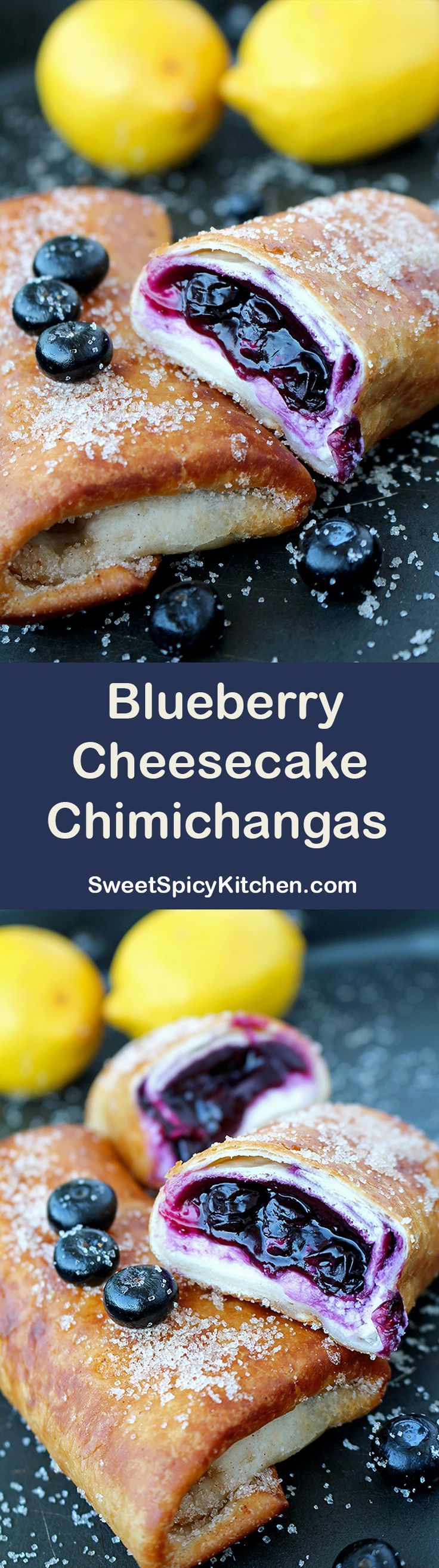 Chimichangas with cream cheese and blueberry sauce – a recipe for perfectly tasty Blueberry Cheesecake Chimichangas