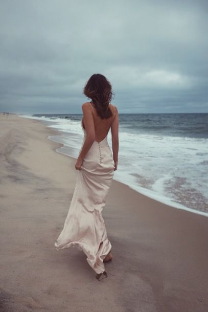 Cool Beach Vibe Backless Low Back Buttoned Up Pink White Cream Silk Maxi Dress Alternative Prom Dress