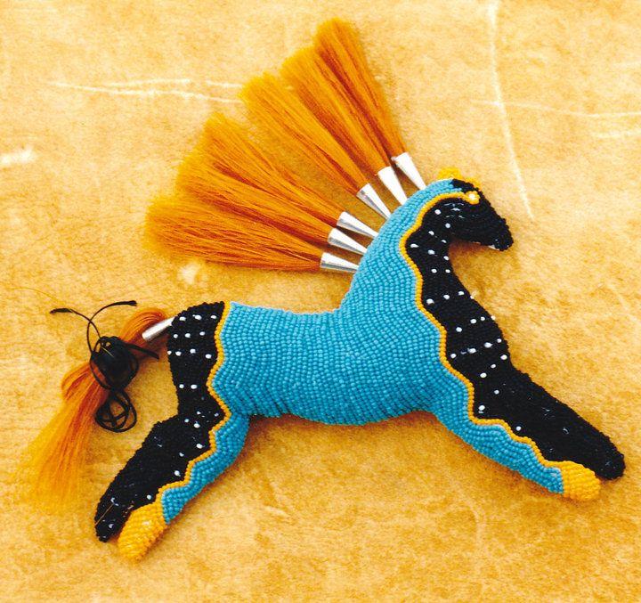 Stunning beaded horse by talented bead artist, Sally Ingram.