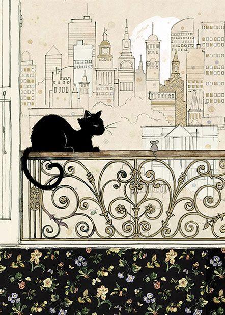 """Era uma vez um gatinho que amava """"namorar"""" os carros e pessoas passando na rua. Então, um dia ele ... DC"""
