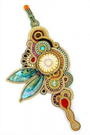 Gustav colorful statement bracelet by Dori Csengeri #DoriCsengeri #shell #oversized #statementbracelet #highfashion #floralbracelet