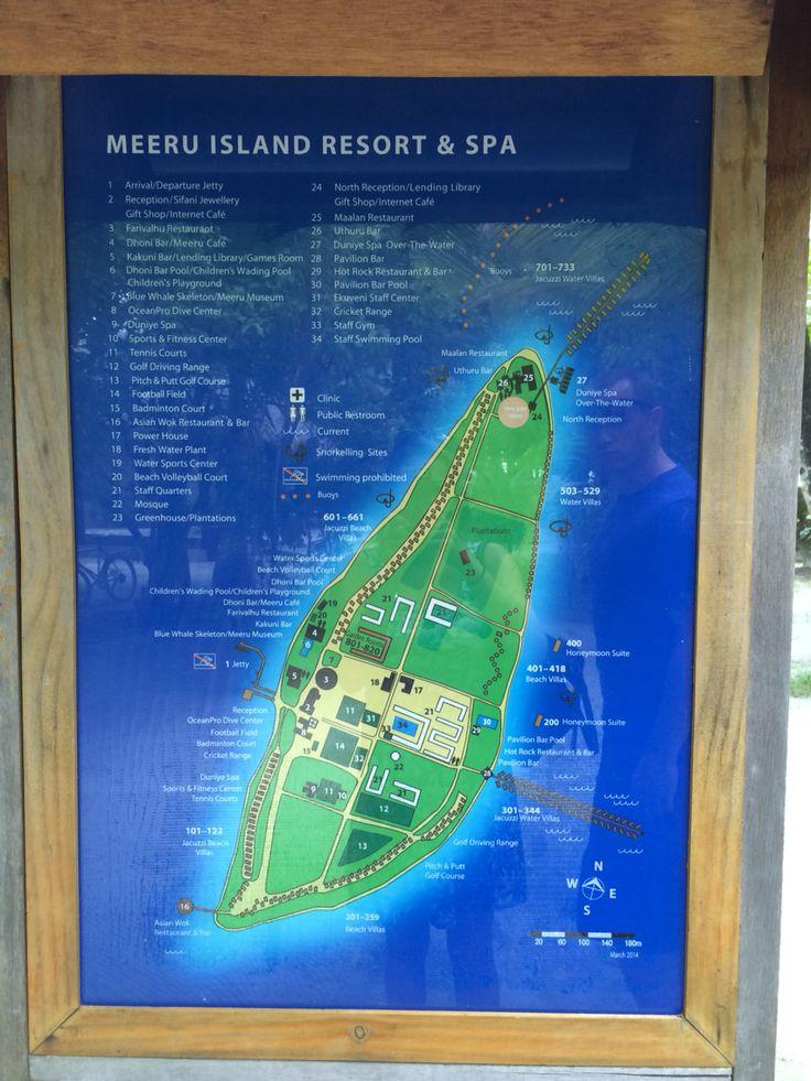 Island map of meeru 40 best Maldives