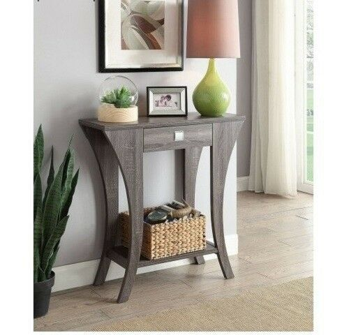 Grey Console Table Living Room Accent Contemporary Sofa Entryway With Drawer New 108 50 End Date Friday Mar 1 2019 2 36 26 Pst Buy It Wonen