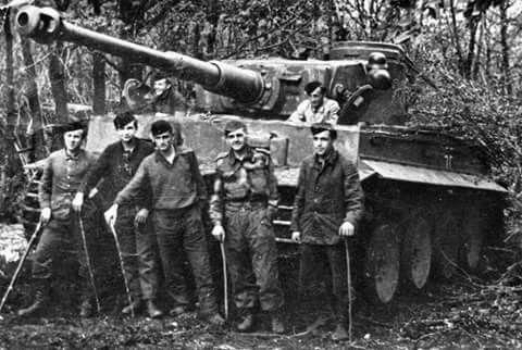 Otto Carius and his Tiger.....