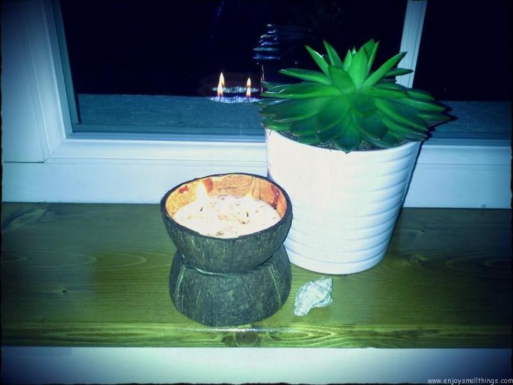 DIY – Coconut shell candle – Light me up! Cool lavender scent candle
