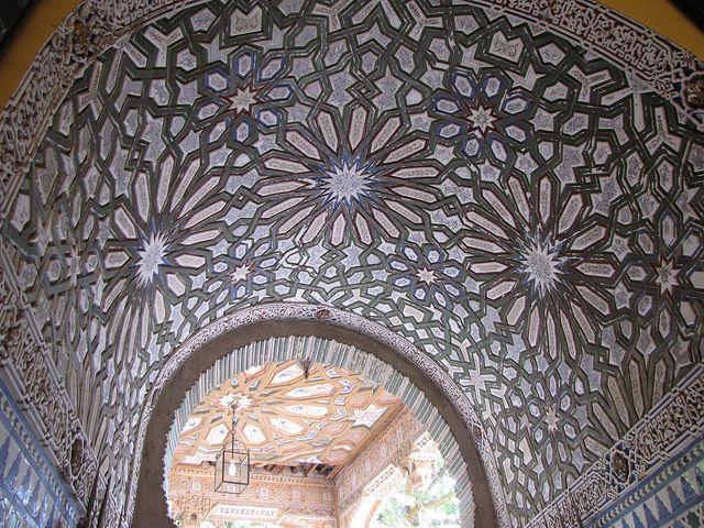 Palacio de Orleáns-Borbón - Bóveda del pasillo de entrada.