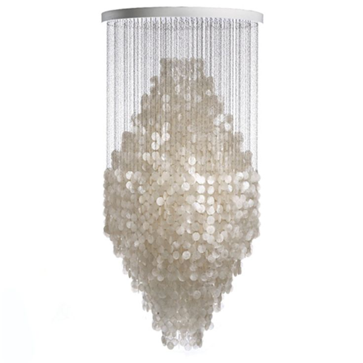 Find More Pendant Lights Information About Modern Nordic White Capiz Shell Chandeliers Lighting Lustre Lamps