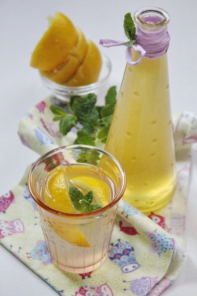 Mézes citromszörp