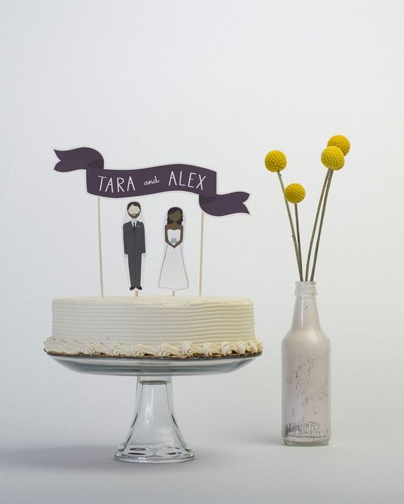 paper cut-out cake topper