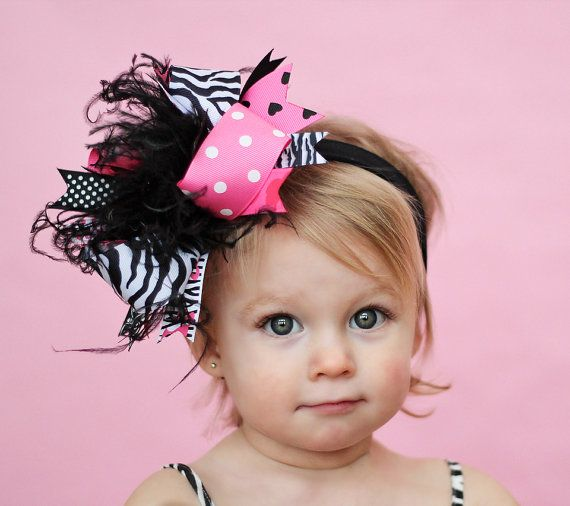 boutique BARBIE ROCK over the top hair bow on a by andjane on Etsy, $16.99