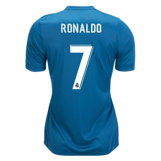 quality design 8d299 1b201 17/18 Cristiano Ronaldo Jersey Number 7 Third Women's Real ...