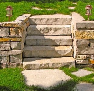 Stonewalls are a smart and relatively cheap way to add to for Cheap garden wall ideas