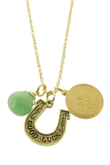 Lucky Charms Necklace, www.myknockonwood.com loves this lucky charm!