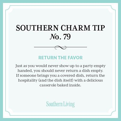 #SouthernCharm Tip #79: Return the Favor
