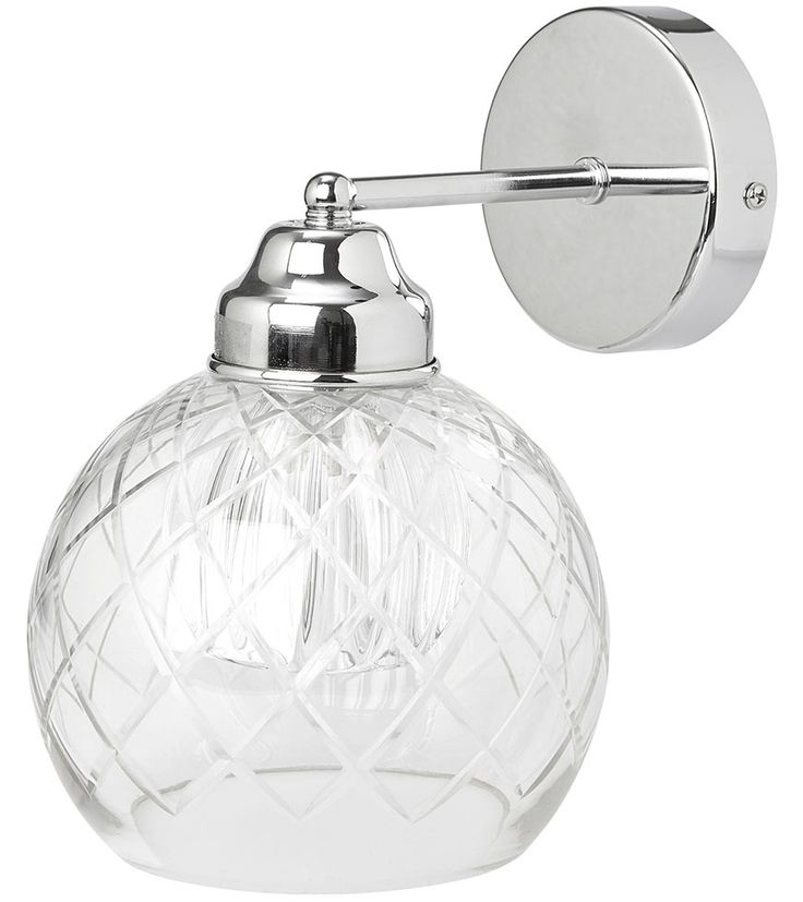 Gabby Cut Glass Wall Light - The Gabby wall light features a stunning cut-glass shade on a ...