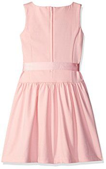 Scout + Ro Girls' Solid Ponte Dress, Crystal Rose, 7