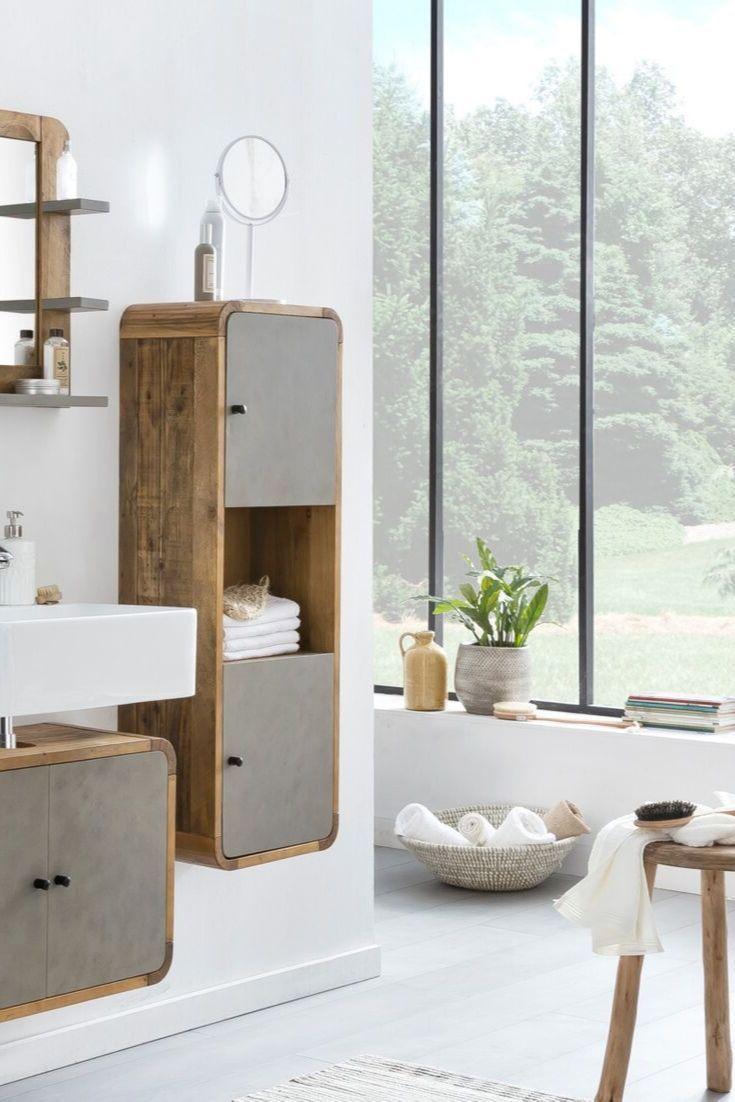 Woodkings Shop Badezimmer Mobel Betonoptik Bad Hochschrank