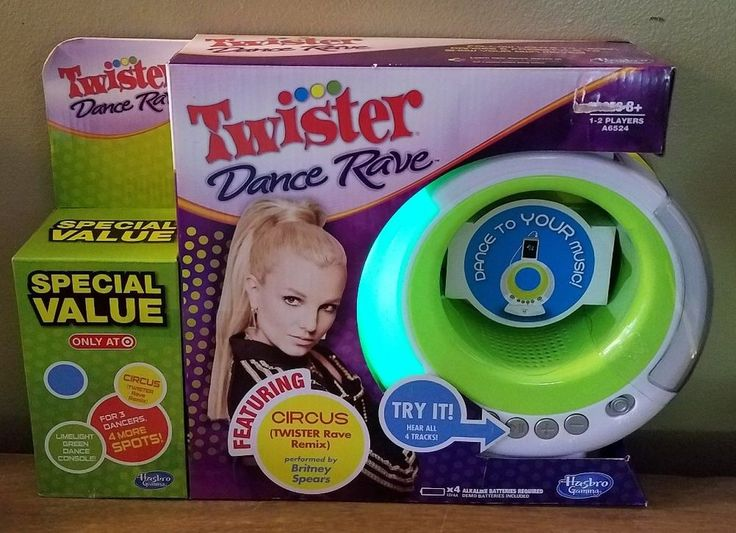 Twister DANCE RAVE Special Value Pack Games Britney Spears Lime Green Circus MP3 | Toys & Hobbies, Games, Electronic Games | eBay!