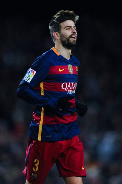 Gerard Pique of FC Barcelona looks on during the Copa del Rey Round of 16 first leg match between FC Barcelona and RCD Espanyol at Camp Nou on January 6, 2016 in Barcelona, Catalonia.
