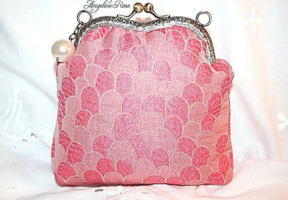 elegant purse elegant clutch coral purse by AngelineRosePurse