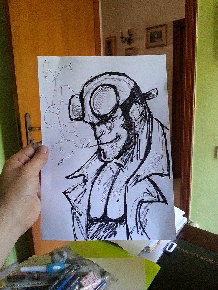 #hellboy sketch