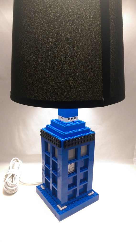 Doctor Who Tardis LEGO Lamp doctor who lamp / by brickablocks