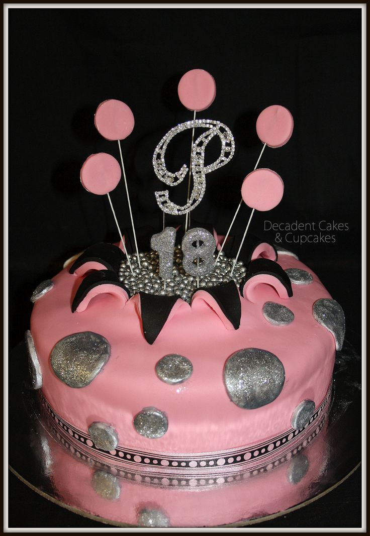 Pink & Black Theme Birthday - Paige The Birthday Girl Decided on a Beautiful Red Velvet Cake !! Made By Decadent Cakes & Cupcakes