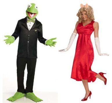 The Muppets Couples Costume Miss Piggy u0026 Kermit Adult Standard - Halloween Costumes 2013 Lulu  sc 1 st  Pinterest & 40 best My Favourite Couples Halloween Costumes images on Pinterest ...