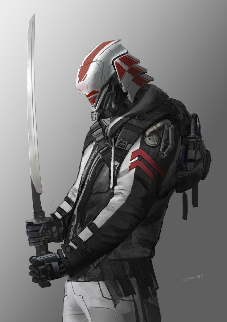 ArtStation - Tech Punk Samurai, Dom Lay