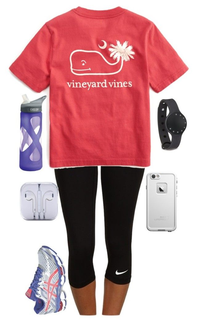 """Guess who has plantar fasciitis?!"" by jane-dodge ❤ liked on Polyvore featuring NIKE, Vineyard Vines, Asics and CamelBak"