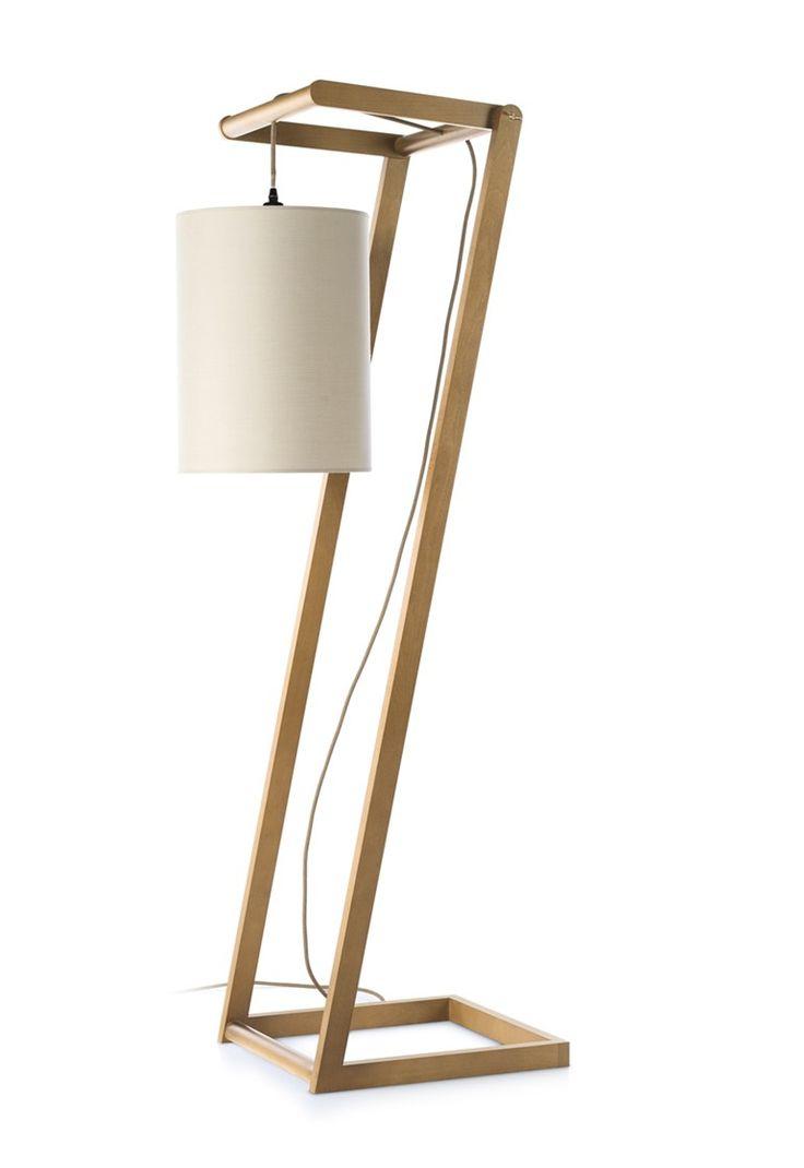 Lampada da terra in frassino in stile moderno KENDO by ENVY