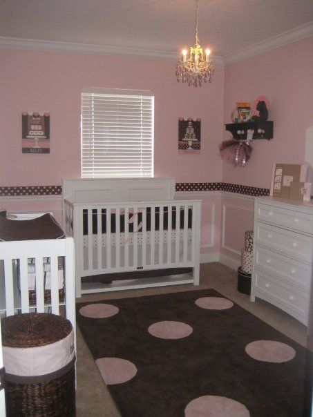 Absolutely love this!! I was always in love with pink and brown for little girls!