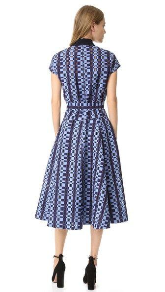 Lela Rose Платье-рубашка с поясом