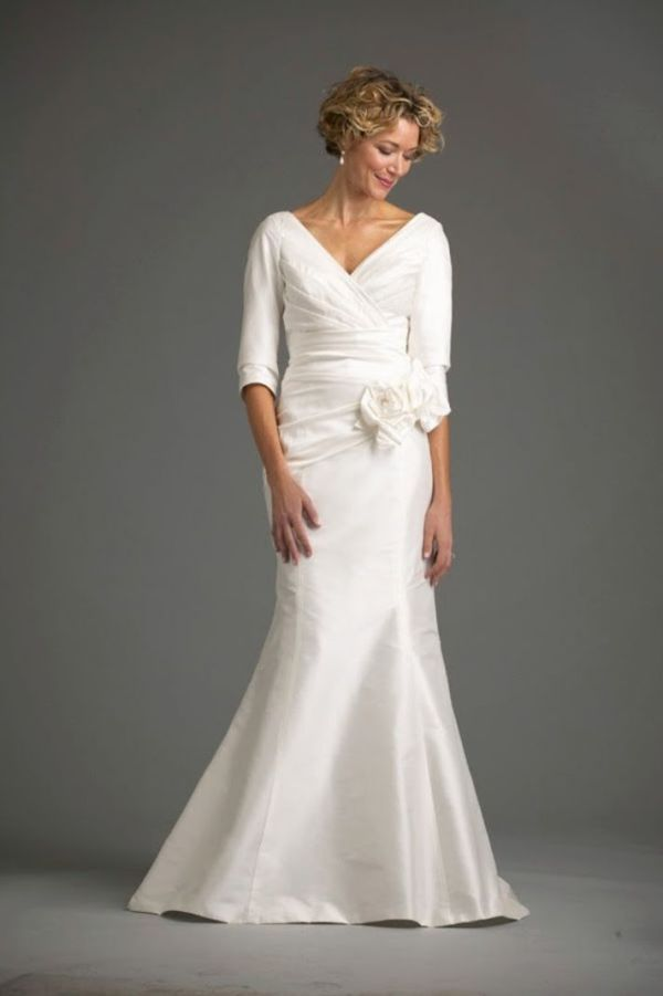 1000 ideas about mature bride dresses on pinterest for Mature wedding dresses with sleeves