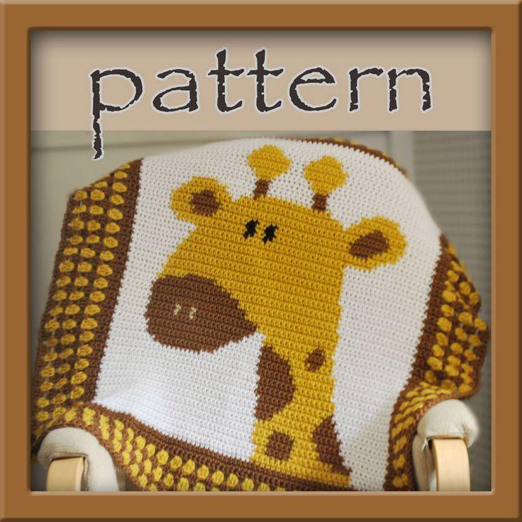 PATTERN Crochet Giraffe Baby Afghan - PDF - Instant Download by HookaholicPatterns on Etsy https://www.etsy.com/listing/151281867/pattern-crochet-giraffe-baby-afghan-pdf