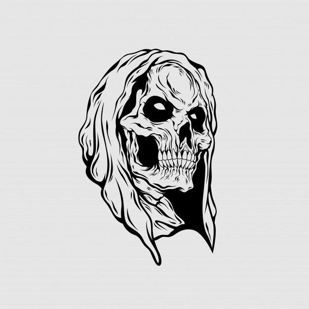Grim Reaper Head Illustration Grim Reaper Sacred Geometry Illustration Grim Reaper Cartoon