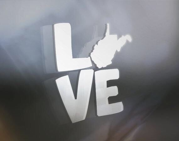WV car decal- show your love