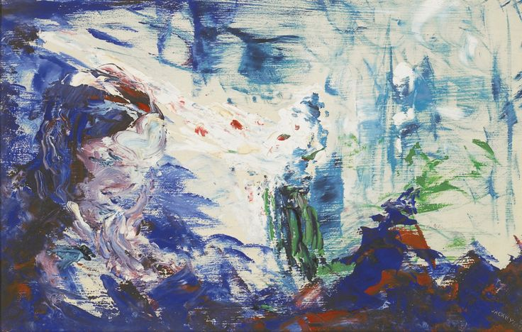 Jack Butler Yeats (Irish, 1871-1957), Man Hearing an Old Song, 1949. Oil on board, 22 x 35.5 cm.