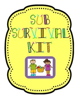 Substitute Teacher Survival Binder