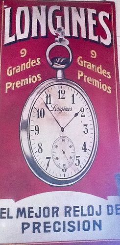 Letrero Longines, Carroza Antiguedades
