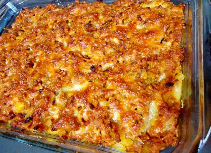 Reteta Cartofi cu carne tocata la cuptor din categoria Mancaruri cu carne