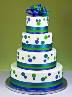 Wedding Cakes Pictures: Blue and Green wedding Cakes know you like Polka Dots @Nicole Novembrino Ray for-niki