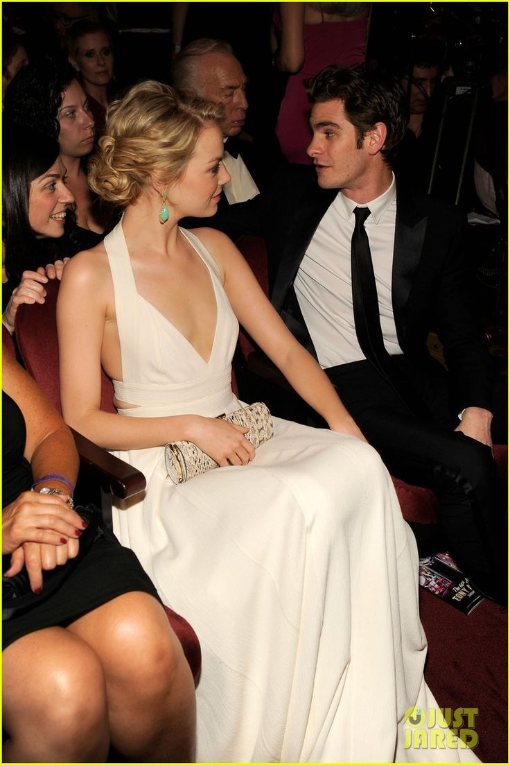 Emma Stone looking gorgeous at the 2012 Tonys, and her date's not too bad either...