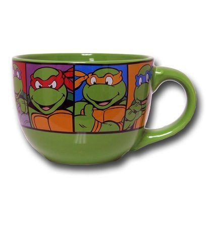 Images of TMNT Character Grid 24oz Soup Mug $12.99